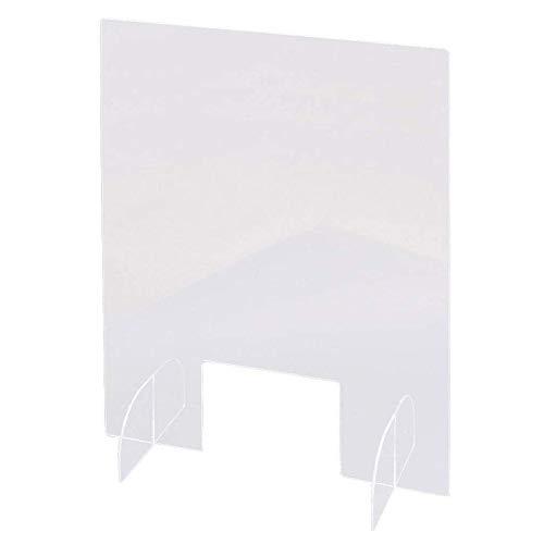 QUUY - Cartel protector acrílico antivómitos para mostradores, 40 x 42 cm, plexiglás transparente para supermercados, farmacias, estaciones de servicio y tiendas