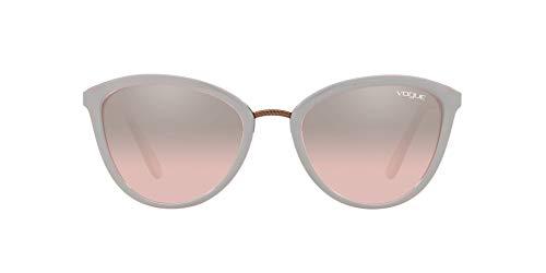 Vogue 0vo5270s Lentes oscuros, Parte Superior Gris Transparente Rosa/Rosa Claro Espejo Gradiente Plata, 57 para Mujer
