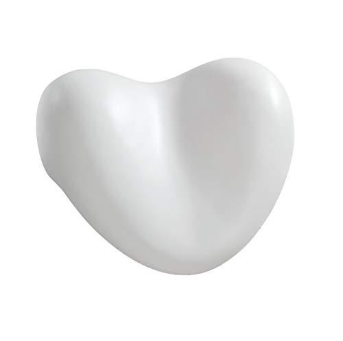 WENKO Reposacabezas Tropic blanco - gomaespuma plástica blanda, Poliuretano, 25 x 11 x 20.5 cm, Blanco