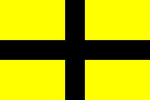 magFlags Drapeau Large Saint David Early | Early Version of The Flag of Saint David | Drapeau Paysage | 1.35m² | 90x150cm