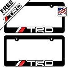 TRD (2) License Plate Frames Toyota Racing Development 3D Letter Frame Brackets (1-Pair)