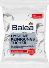 Balea Händedesinfektion Hygiene Reinigungstücher, 10 Tücher