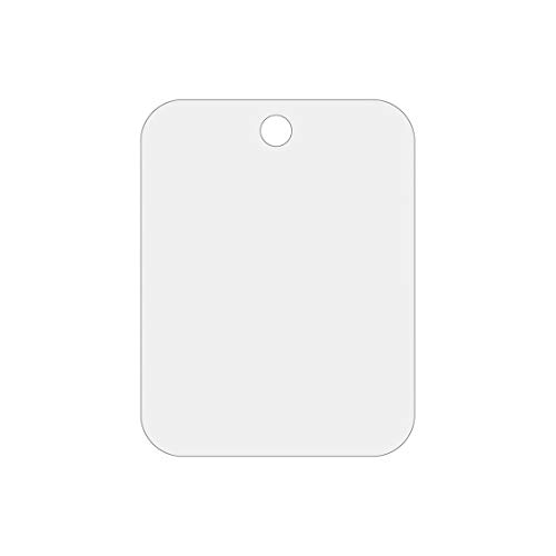 goen Acrylmaterial Rasierspiegel Silber Acryl Hängender Rasierspiegel Praktischer Haushalts-Badezimmerspiegel - Silber