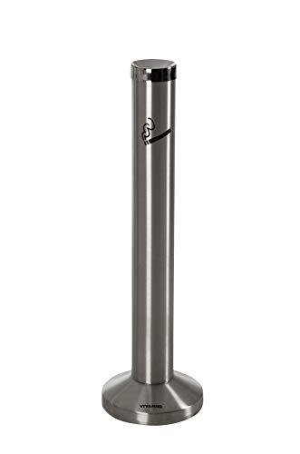 VIVANNO Standaschenbecher Standascher Aschenbecher Zigarettenbehälter V2A Edelstahl Fumo