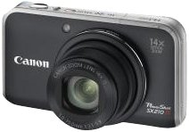 Canon PowerShot SX210 IS Digitalkamera (14 MP, 14-fach opt. Zoom, 7.6cm (3 Zoll) Display) schwarz