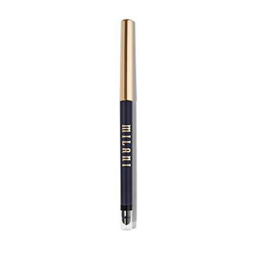 Milani Stay Put Eyeliner - Femme Fatale (0.01 Ounce) Cruelty-Free Self-Sharpening Eye Pencil with Built-In Smudger - Line & Define Eyes with High Pigment Shades for Long-Lasting Wear
