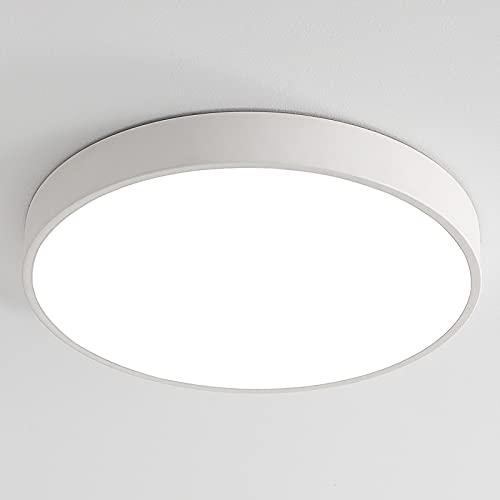 36W LED Deckenleuchte Deckenlampe warmweiß 3000K ultra dünn runde Leuchte für Büro, Wohnzimmer, Schlafzimmer usw. 50 * 50 * 5 cm (Weiß)