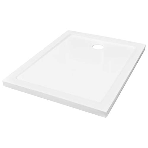 vidaXL Plato de Ducha con Granos Antideslizantes Receptor Soporte Base Plataforma Antihumedad Bandeja Baño Bañera ABS Blanco 70x90 cm