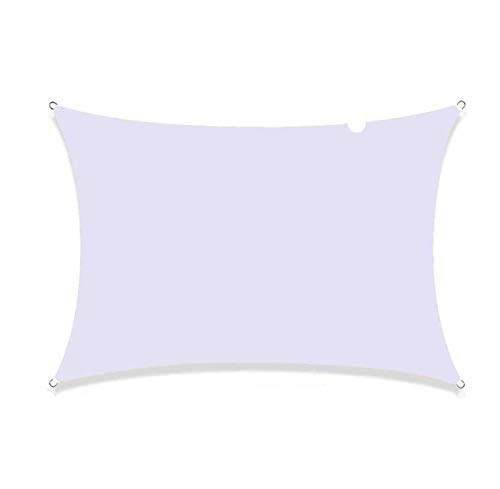 QI-CHE-YI Sombra, poliéster Impermeable, 90% UV, Utilizado para el toldo del jardín, terraza de la Sombra de la Fiesta, Blanco,4x5m