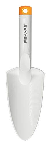 FISKARS Trapiantatore per Piantare e Trapiantare, Lunghezza 29.1 cm, FiberComp/Acciaio di Qualità, Bianco, 1027032
