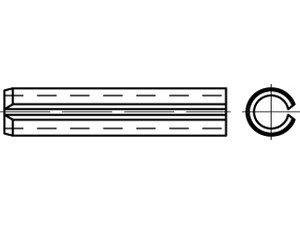 DIN 7346 Federstahl Spannstifte (Spannhülsen), leichte Ausführung - Abmessung: 16x40 (50 Stück)