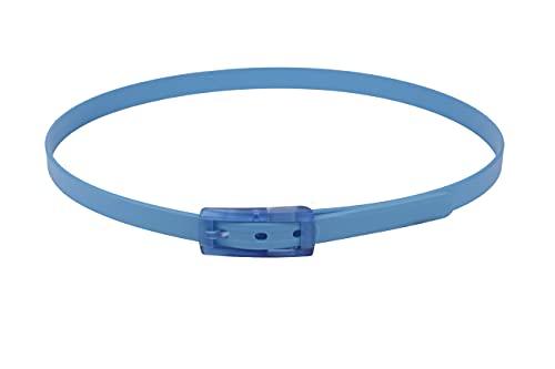 tie-ups Cintura in Gomma con Fibbia in Plastica   Nickel Free - Nessun Metallo   Cintura Uomo e Donna   Colore Light Bluecut