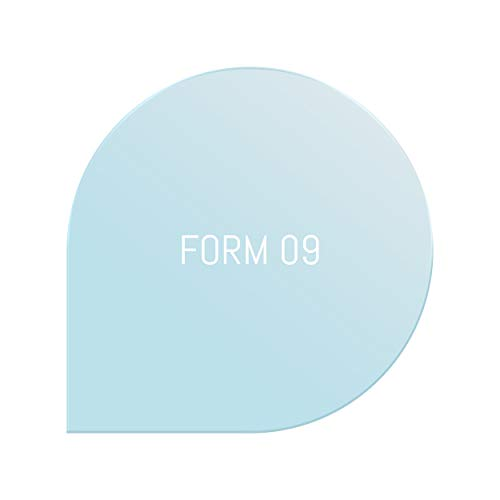 Glas Bodenplatte Funkenschutz Tropfen Form klein Ø 110cm 6mm Stärke mit Silikon Schmutzlippe ESG Einscheibensicherheitsglas für Kamin und Ofen Facettenschliff Klarglas