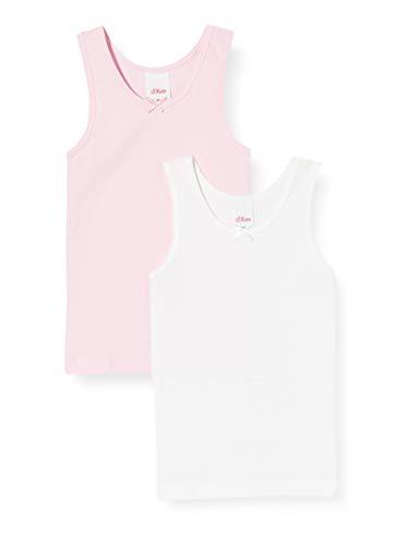 Sanetta Mädchen Doppelpack Unterhemd, Rosa (Lolly 3053), 92 (Herstellergröße: 092) (2er Pack)