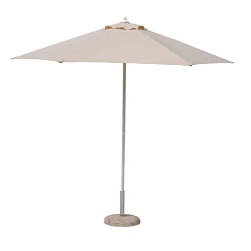 PEGANE Parasol centré Beige en Acier - Dim : Ø 270 x H 240 cm