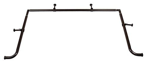 Meriville 1-Inch Diameter Bay Window Curtain Rod Set for Bayview Windows, Oil-Rubbed Bronze