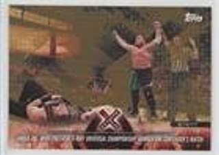 Samoa Joe Wins the Fatal 5-Way Universal Championship Number One Contender's Match (Trading Card) 2018 Topps WWE Road to Wrestlemania - [Base] - Bronze #40