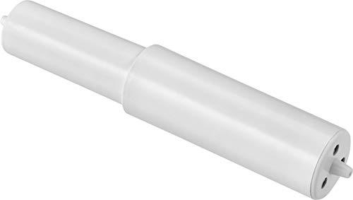 Cornat Ersatzrolle für WC-Papierhalter - 85 - 128 mm Breite - Flexible Ausführung mit Feder - Für ein leichtes Einspannen - Aus Kunststoff - Weiß / Einsatz für Toilettenpapierhalter / T364698