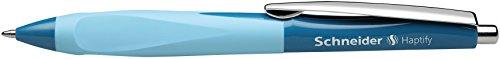 Schneider Haptify Schreibgeräte Ballpoint Pen with Click-Top Mechanism M Blue Barrel Colour: Petrol Blue