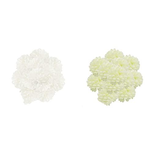 HUIKJI 100 pezzi di peonie in seta fiore ortensia per fiori finti, mini testa di seta floreale per decorazioni di nozze, accessori fai da te per ghirlande fai da te e fai da te, 5,1 cm