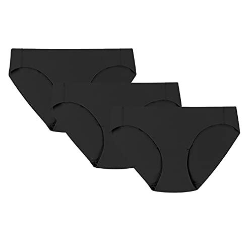 Champion Free Cut, 3-Pairs Bikini Estilo Ropa Interior, Negro/Negro/Negro, L para Mujer