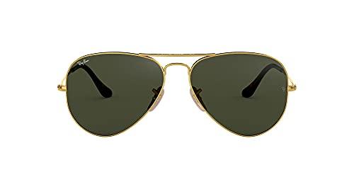 Ray-Ban Aviator Large Metal, Gafas de sol para Hombre, Dorado (Grey/Green), 55
