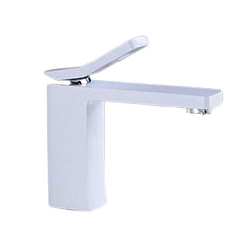 SHENLIJUAN Grifos tocador de baño Grifo de Cobre Caliente y fría bajo Ajuste contrarrestar la Cuenca Orificio de Grifo
