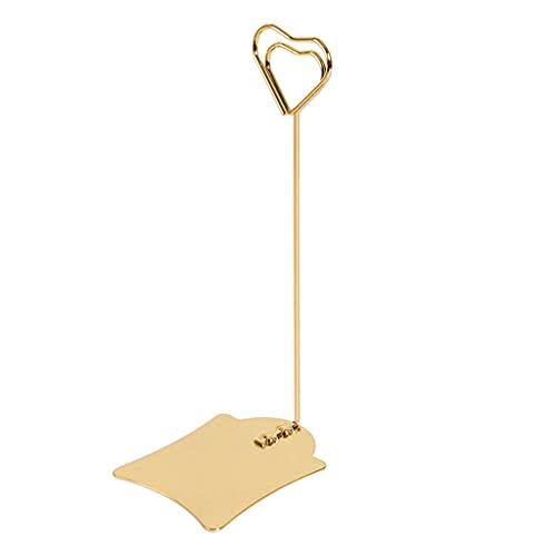 MIORIO Clip per Foto Clip in Metallo Oro con Base in Metallo Oro Rosa a Forma di Cuore per Memo Paper Note Monmory Photo Christmas Wedding