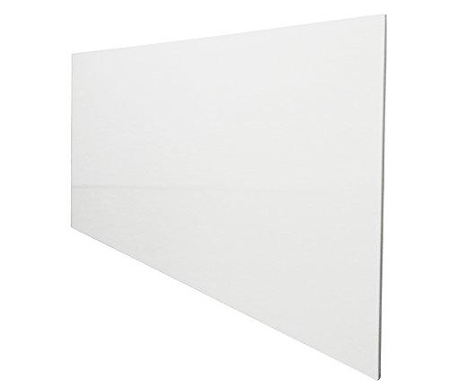 insidehome | Infrarotheizung SLIM Stahlblech rahmenlos – extra schlank, 800 Watt, 120x60x1,5 cm - mit hochwertigem Schutzlack - weiss