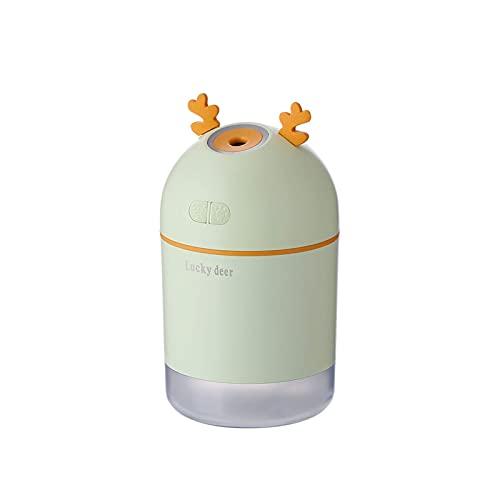 THj Humidificador USB Fawn Humidificador de luz Nocturna LED Humidificador de oxígeno de purificación de Aire silencioso (Color: Verde)