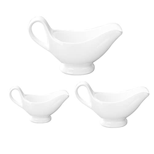 Lurrose 3 Unidades de Jarras de Leche de Cerámica con Mango de Porcelana Platos de Salsa de Soja Café Leche Creamer Jarra de Salsa Jarra de Cocina Gadgets