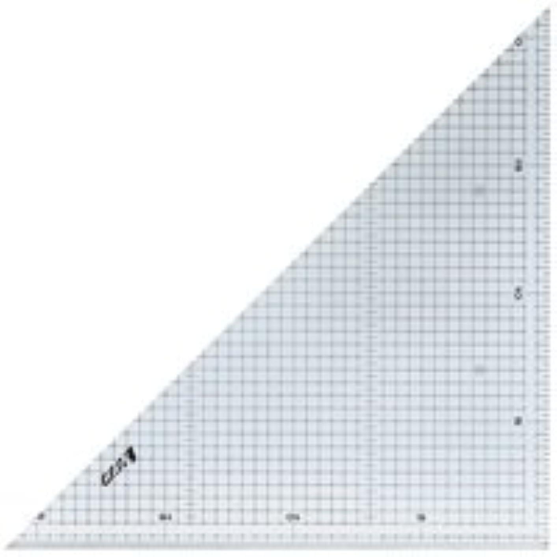 むしろけん引仮定三角定規 アクリル製 30cm 方眼目盛付 2枚組 77062