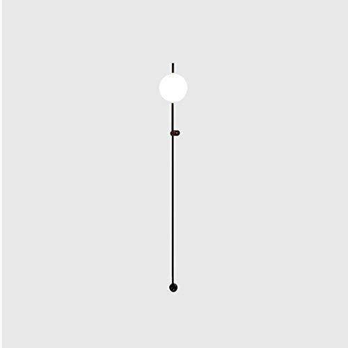 E4 Simple Con Enchufe Luz Blanca Lampara De Pared,Moderno -Luces Ajustable Color Negro Aplique Pared,Polo Largo Aplique Pared Para Dormitorio Salón-Luz blanca 70x13cm(28x5inch)