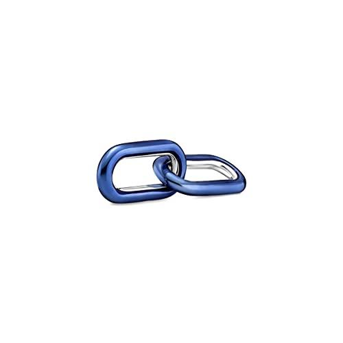 Pandora ME Electric Blue Styling 799663C01 - Doble enlace de plata de ley, compatible con pulseras Pandora ME, altura: 8,3 mm