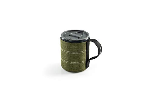 GSI Outdoors Infinity Lightweight Backpacker Mug for Camping and Backpacking - 17 oz - Heathered Green