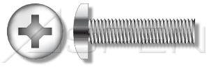 50 pcs #164 X 3/8quot Machine Screws Pan Phillips Drive Full Thread AISI 304 Stainless Steel 188