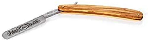 Becker Manicure Shaving Shop Rasiermesser Rasiermesser Oliven-Holz, 1 Stück
