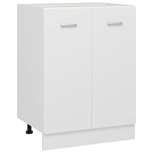 Festnight Küchenschrank Unterschrank Küche Küchenunterschrank Küchenblock Küchenzeile Küchenmöbel Küchenmodule Küchen Schrank Aufbewahrungsschrank Weiß 60x46x81,5 cm