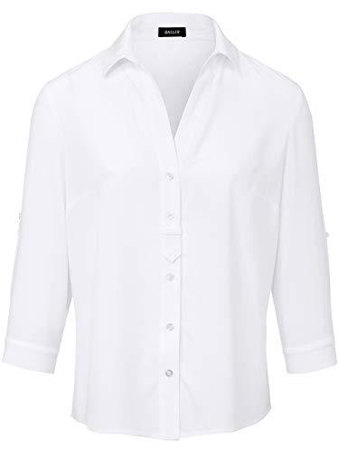 BASLER Damen Bluse mit Knopfleiste und unifarbigen Design