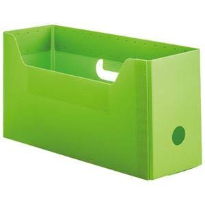 (まとめ)TANOSEE PP製ボックスファイル(組み立て式)A4ヨコ ショートサイズ グリーン 1セット(10個)【×2セット】 〈簡易梱包