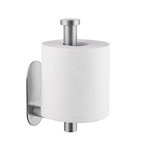 KES Self Adhesive Toilet Paper Holder Stick On Toilet Paper Roll Holder SUS 304 Stainless Steel Brushed Finish, A7170-2