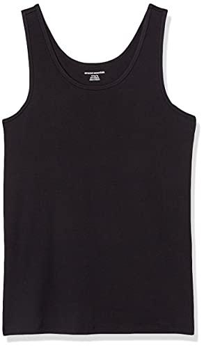 Amazon Essentials Women's 2-Pack Slim-Fit Tank, Black, Large