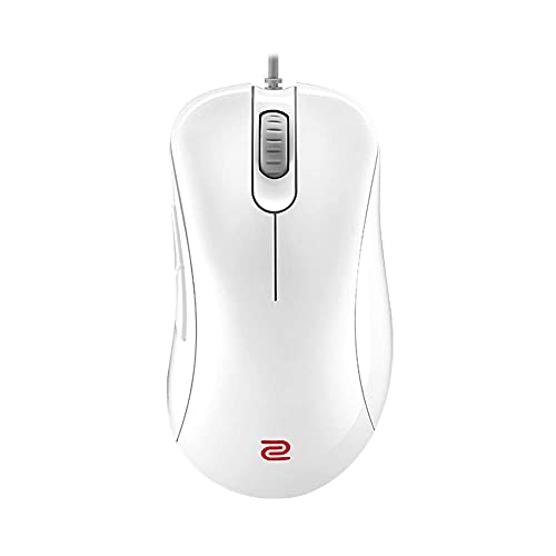 BenQ Zowie EC2 Ergonomic Gaming Mouse for Esports White Edition | Professional Grade Performance | Driverless | Glossy Coating | Medium Size (Renewed)