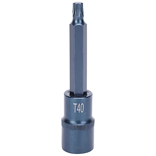 100xT40 Socket Bit, Star Anti-Rust S2 High Precision Alloy Steel Bluing Screwdriver, Hand Tools