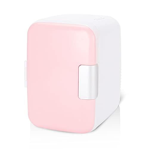 Mini Refrigerador Mini Frigorífico 4 Litros / 6 Puede Compactar Refrigerador De Automóvil Para Refrigerador Eléctrico Refrigerador Y Calentador Sistema Termoeléctrico Portátil Para Habitación De Dormi