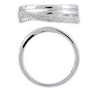 Verlobungsring oder Geburtstagskarte in 18Karat Weiß Schulter von 58Diamanten Brillantschliff eines Gesamtgewicht von 0,15Carat.
