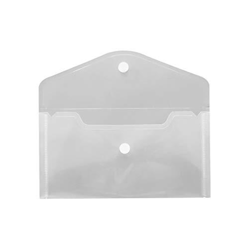 Centitenk Aufbewahrung PP-Beutel-Karten-Dateien Papierwaren Lagerung PP Tasche Bleistift-Radiergummi-Speicher-Organisator-Kasten-Beutel, transparent, Medium