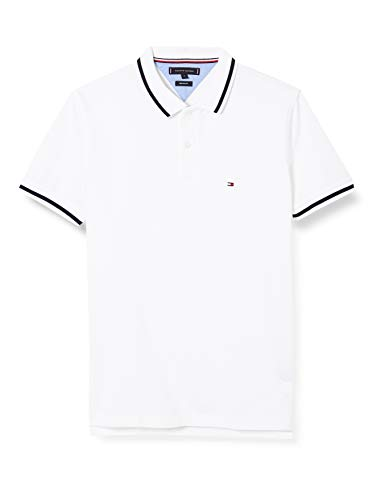 Tommy Hilfiger Herren Contrast Tipped Regular Polo Hemd, White, X-Small