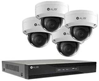 ALIBI 2 MP 4-Camera 120' IR IP Outdoor Security System, with 4-Channel NVR and 1TB HDD