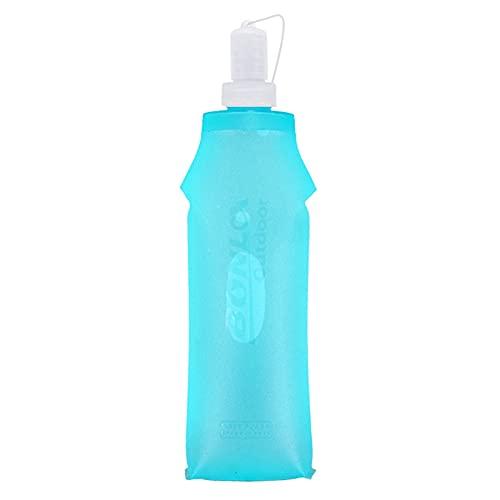 NMSL Botellas de Agua Plegables Suaves, 250/500 ml TPU Botellas de Agua Plegables Suaves BBA Frasco Plegable sin Alcohol para el Paquete de hidratación, Ideal para Correr Senderismo Ciclismo Escalada
